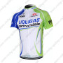 2012 Team LIQUIGAS cannondale Riding Maillot Jersey Shirt Blue White Green