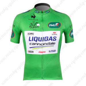 2012 Team LIQUIGAS cannondale Tour de France Cycling Jersey Green