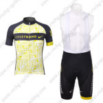 2012 Team LIVESTRONG Cycling Bib Kit Yellow Black