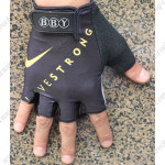 2012 Team LIVESTRONG Cycling Gloves Mitts Black