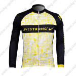2012 Team LIVESTRONG Cycling Long Sleeve Jersey Yellow