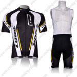 2012 Team LOOK Cycling Bib Kit Black White