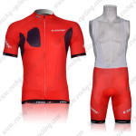 2012 Team LOOK Cycling Bib Kit Red