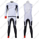 2012 Team NW Northwave Cycling Long Bib Kit White Grey