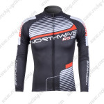 2012 Team NW Northwave Cycling Long Sleeve Jersey Black