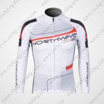2012 Team NW Northwave Cycling Long Sleeve Jersey White
