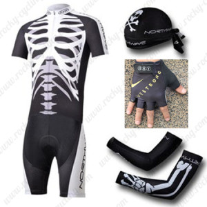 2012 Team NW Northwave Cycling Set Jersey and Shorts+Bandana+Gloves+Arm Sleeves