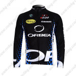 2012 Team ORBEA Cycling Long Jersey Maillot Black Blue