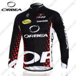 2012 Team ORBEA Cycling Long Jersey Maillot Black Red