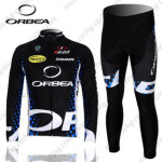 2012 Team ORBEA Cycling Long Kit Black Blue