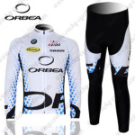 2012 Team ORBEA Cycling Long Kit White Blue