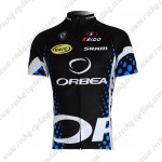 2012 Team ORBEA Cycling Maillot Jersey Shirt Black Blue