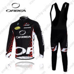 2012 Team ORBEA Riding Long Bib Kit Black Red