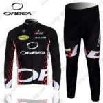 2012 Team ORBEA Riding Long Kit Black Red