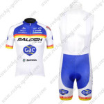 2012 Team RALEIGH Cycling Bib Kit Blue White