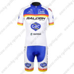 2012 Team RALEIGH Cycling Kit Blue White