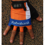 2012 Team Rabobank Cycling Gloves Mitts Orange Blue
