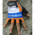 2012 Team Rabobank Cycling Gloves Mitts White Blue