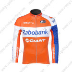 2012 Team Rabobank Cycling Long Sleeve Jersey Orange