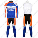 2012 Team Rabobank Pro Riding Long Bib Kit Blue
