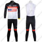 2012 Team Radioshack NISSAN TREK Cycling Long Sleeve Bib Kit America Flag