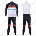 2012 Team Radioshack NISSAN TREK Cycling Long Sleeve Bib Kit Red Blue Lines