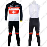 2012 Team Radioshack NISSAN TREK Cycling Long Sleeve Bib Kit Red Cross