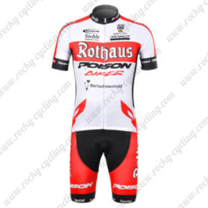 2012 Team Rothaus Cycling Kit White Red
