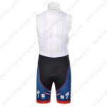 2012 Team SAXO BANK Cycling Bib Shorts Blue Red