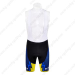 2012 Team SAXO BANK Cycling Bib Shorts Yellow Blue