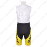 2012 Team SCOTT Cycling Bib Shorts Yellow