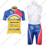 2012 Team SUBARU Cycling Bib Kit Blue Yellow Pink