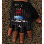 2012 Team SUBARU Cycling Gloves Mitts Black