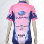 2012 Team SUBARU Women Bike Jersey Pink Blue