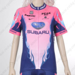 2012 Team SUBARU Women Cycling Jersey Pink Blue