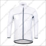 2013 Pro Cycling Windbreaker White Waterproof