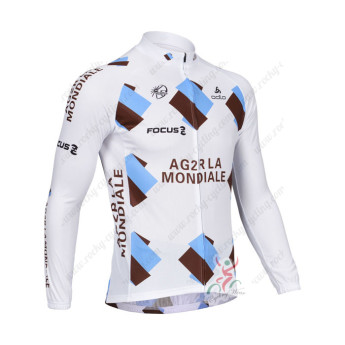 2013 Team AG2R LA MONDIALE Pro Cycling Jersey Long Sleeve