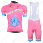 2013 Team ASTANA Cycling Bib Kit Pink