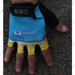 2013 Team ASTANA Cycling Gloves Mitts Blue