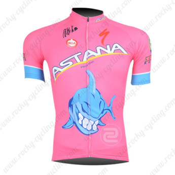 2013 Team ASTANA Cycling Jersey Pink