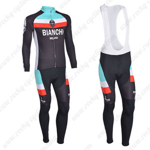 2013 Team BIANCHI Cycling Bib Kit Long Sleeve