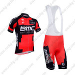 2013 Team BMC Cycling Bib Kit Red Black