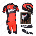 2013 Team BMC Pro Cycling Set Jersey and Shorts+Bandana+Gloves+Arm Sleeves