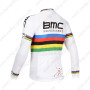 2013 Team BMC UCI Bicycle Long Sleeve Jersey White