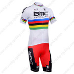 2013 Team BMC UCI Champion Cycling Kit White