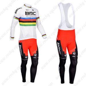 2013 Team BMC UCI Cycling Long Bib Kit White