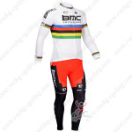 2013 Team BMC UCI Cycling Long Kit White
