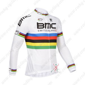 2013 Team BMC UCI Cycling Long Sleeve Jersey White