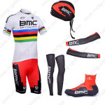 2013 Team BMC UCI Pro Bicycle Set White Rainbow