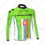 2013 Team CANNONDALE Slovakia Champion Cycling Long Sleeve Jersey Green Red